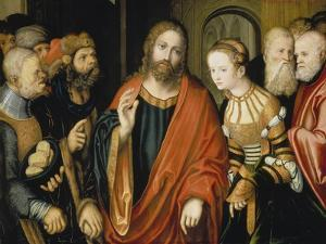 Christ and the Adulteress by Lucas Cranach the Elder