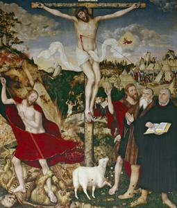 Christ on the Cross, 1552-55 by Lucas Cranach the Elder