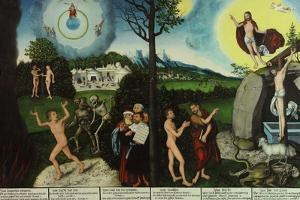Damnation and Redemption. Law and Grace by Lucas Cranach the Elder