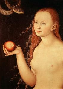 Eve, from Adam and Eve, 1528 by Lucas Cranach the Elder