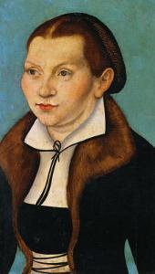 Katharina Von Bora, Martin Luther's Wife by Lucas Cranach the Elder