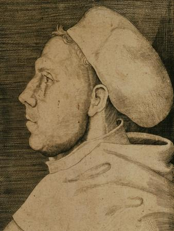Martin Luther (1483-1546) with Doctor's Cap by Lucas Cranach the Elder