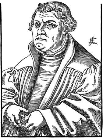 Martin Luthor German Protestant Reformer, 1546 by Lucas Cranach the Elder