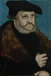 Portrait of Frederick the Wise, Elector of Saxony, C. 1525-1527 by Lucas Cranach the Elder
