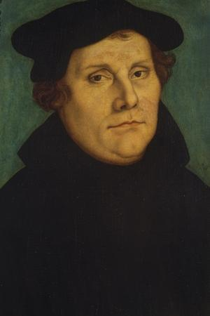Portrait of Martin Luther as Professor by Lucas Cranach the Elder