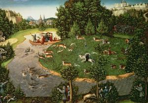 "Stag Hunt of Elector Friedrich Iii the ""Wise"", 1529 by Lucas Cranach the Elder"