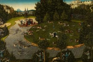 Stag Hunt with the Elector Frederick the Wise, 1529 by Lucas Cranach the Elder