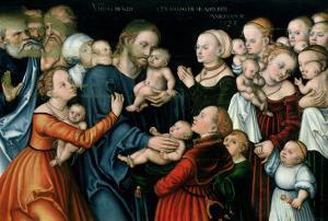 Suffer the Little Children to Come Unto Me, 1538 by Lucas Cranach the Elder