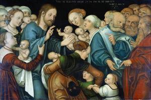 The Blessing of the Children, Weimar, 1538 by Lucas Cranach the Elder