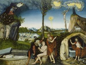 The Fall of Man and Redemption, about 1529 by Lucas Cranach the Elder