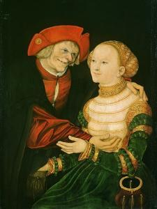 The Ill-Matched Couple by Lucas Cranach the Elder