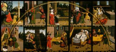 The Ten Commandments by Lucas Cranach the Elder