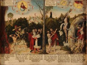 Law and Grace by Lucas Cranach the Younger