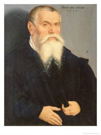 Portrait of Lucas Cranach the Elder, 1550