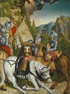 The Conversion on the Way to Damascus by Lucas Cranach the Younger