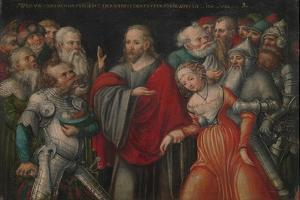 Christ and the Adulteress, c.1545-50 by Lucas the Younger Cranach