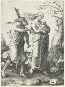 Adam and Eve after their Expulsion from Paradise, 1510 by Lucas van Leyden