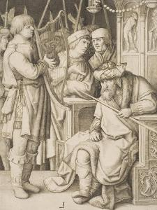 David Playing the Harp before Saul, C.1508 by Lucas van Leyden
