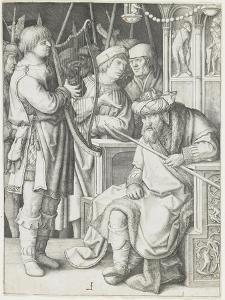 David Playing the Harp before Saul, C. 1508 by Lucas van Leyden