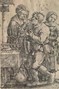 Dentist, 1523 by Lucas van Leyden