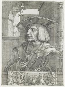 Emperor Maximilian I, 1520 by Lucas van Leyden