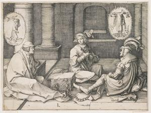 Joseph Interpreting the Dreams in Prison, 1512 by Lucas van Leyden