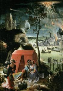 Lot and His Daughters, 17th century by Lucas Van Leyden