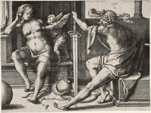 Mars, Venus, and Cupid, 1530 by Lucas van Leyden