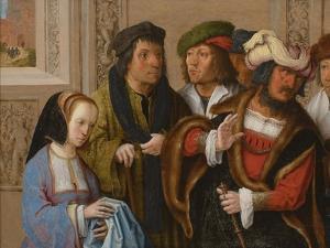 Potiphar's Wife Displays Joseph's Garment, C. 1512 by Lucas van Leyden