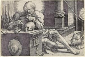Saint Jerome in His Study, 1521 by Lucas van Leyden
