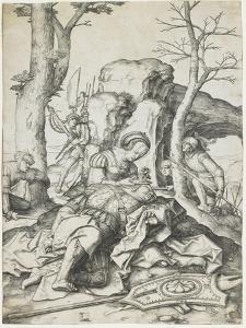 Samson and Delilah, C. 1508 by Lucas van Leyden