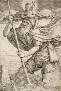 St. Christopher, C.1521 by Lucas van Leyden