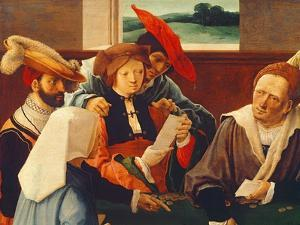 The Card Players (Detail of 69590) by Lucas van Leyden