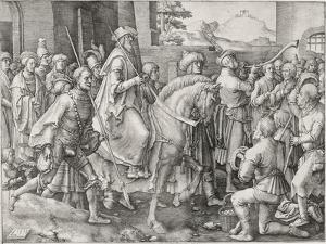 The Triumph of Mordecai, 1515 by Lucas van Leyden