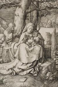 Virgin and Child with Two Angels, 1523 by Lucas van Leyden
