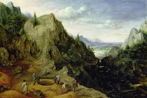 Landscape with a Foundry, 1595 by Lucas van Valckenborch