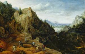 Landscape with Iron Mines by Lucas van Valckenborch