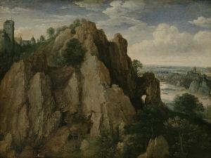 Mountainous Landscape by Lucas van Valckenborch