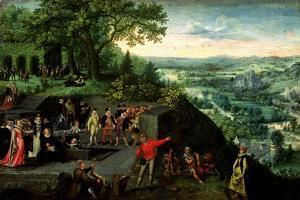 Rudolf II (1552-1612) and the Drunkard, 1593 by Lucas van Valckenborch
