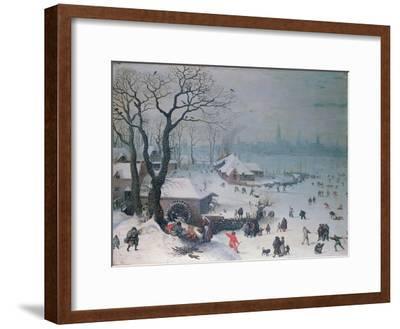 Winter Landscape with Snowfall Near Antwerp