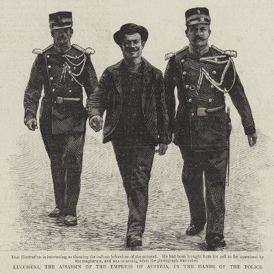 Luccheni, the Assassin of the Empress of Austria, in the Hands of the Police--Giclee Print