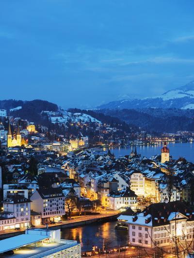 Lucerne on Lake Lucerne, Lucerne, Switzerland, Europe-Christian Kober-Photographic Print
