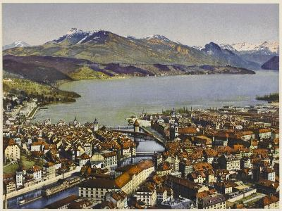 Lucerne: Vierwaldstattersee and the Rigi--Photographic Print