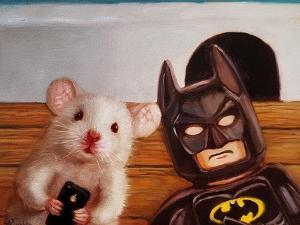 Selfie with Batman by Lucia Heffernan