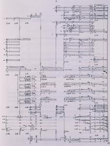 Music Score from Passaggio by Luciano Berio