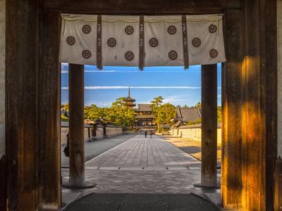 Horyu-Ji Temple in Nara, Unesco World Heritage Site, Japan