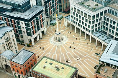 Paternoster Square, London. it is an Urban Development next to St Paul's Cathedral in the City of L