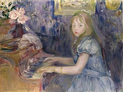 Lucie Leon at the Piano, 1892-Berthe Morisot-Giclee Print