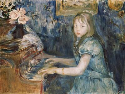 Lucie Leon at the Piano, C.1892-Berthe Morisot-Giclee Print