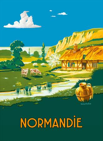 Normandie (Normandy) France - L'ete . . . L'état (Summer is here) - French State Railways
